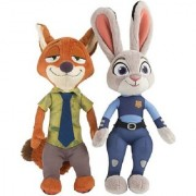 Kuhu Creations Plush Soft Toys Store Officer Judy Hopps Nick Wilde 20 - 23 cm (Approx)