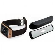 Zemini DZ09 Smartwatch and B 13 Bluetooth Speaker for OPPO FIND 7A(DZ09 Smart Watch With 4G Sim Card Memory Card| B 13 Bluetooth Speaker)