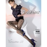 Gabriella - Elegant flower pattern fishnet tights Variette 03