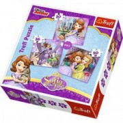 Puzzle Sofia 3 in 1 - Printesa Sofia Intai si prietenele ei