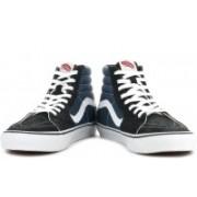 Vans Sk8-Hi High Ankle Sneakers For Men(Grey, Navy)