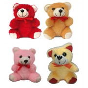 Grabdeal Small Teddy Bears Set of 4 Pcs for Girls, Kids, Boys, Friends, Best Friend, Birthday - Soft Toys10