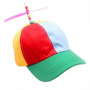 Tinksky Adult Propeller Hat Colorful Patchwork Funny Baseball Hats Propeller Bamboo Dragonfly Sun Hat Casquette Snapback,,gift for women men 1 PCS (Yellow+Red+Blue)