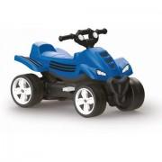 Vehicul ATV din plastic cu pedale pentru baieti Albastru Dolu