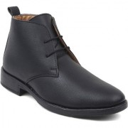 Feet Culture Men's Black Synthetics Leather Ankle Length Casual Boots