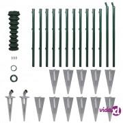 vidaXL Set žičane ograde sa stupovima i drugim priborima 1,25 x 25 m