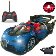 Emob Royal Blue Fully Functional Super Sports Remote Controlled Toy with One Key Switch Door (Blue)