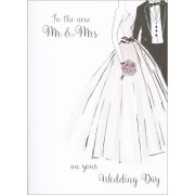 grote trouwkaart A4 - to the new mr & mrs on your wedding day