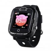 Ceas Inteligent pentru copii WONLEX KT07S Negru, cu GPS, rezistent la apa, localizare WiFI si monitorizare spion
