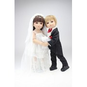 Bride and Groom Action Figure Ball Joint Doll Dress up Dolls Couples