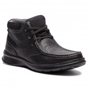 Обувки CLARKS - Cotrell Top 261367037 Black Oily Leather