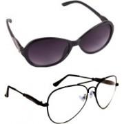 Criba Aviator, Cat-eye Sunglasses(Clear, Grey)