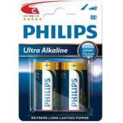 Philips Baterie LR14/C Philips Ultra Alkaline 2ks (blistr)
