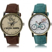 The Shopoholic Brown White Combo New Collection Brown And White Dial Analog Watch For Boys And Girls Mens Watches