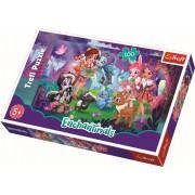 Puzzle clasic pentru copii Enchantimals cu prietenii 100 piese
