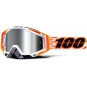 100% Racecraft Plus Illumina Motocross Goggles White Orange One Size