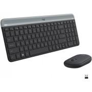 Logitech - MK470 Slim Wireless Mouse and Keyboard Combo - Black/Gray