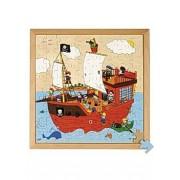 Rampussel pirater 40x40cm