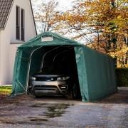 TOOLPORT Garagetent 3,3x6,0m PVC 720 g/m² donkergroen waterdicht Autotent, Tentgarage