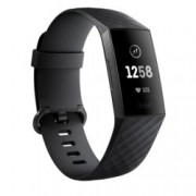 Смарт часовник Fitbit Charge 3, Bluetooth, водоустойчив, до 7 дни време за работа, черен