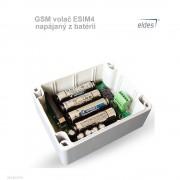 GSM volač ESIM4 napájaný z batérií