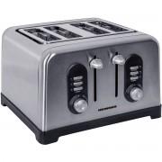 Prajitor de paine Heinner HTP-BK1400XMC 4 felii 6 nivele 1400-1600W Inox