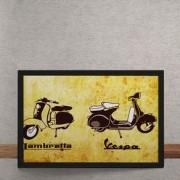 Quadro Decorativo Lambretta Versus Vespa 25x35