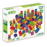 Set de constructie BioBuddi Lumea cuburilor, 100 cuburi