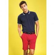 Asquith & Fox Rode katoenen korte broek voor heren 44 (4XL) - Korte broeken