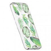 Husa Silicon Transparent Slim Tropical 150 Apple iPhone 5 5S SE