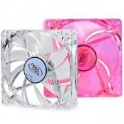 Вентилатор Deepcool XFan 120L/R Clear 120mm RED LED fan, DP-XF120LR_VZ