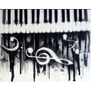 diamond painting 30x40 cm piano muzieknoten