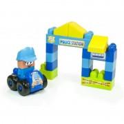 Joc constructii tematic Statie politie Miniland, 2 ani+