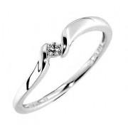 Prsten s diamantem, bílé zlato 3860690, Gems Manona