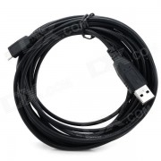 MDN4 USB a Micro cable de datos USB / Cable de carga para Samsung / LG / HTC - negro (4m)