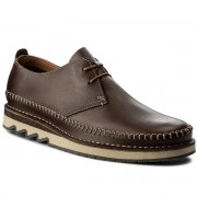 Обувки CLARKS - Fallton Edge 261271747 Brown Leather