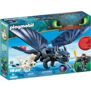 Set Playmobil Dragons - Hiccup, Toothless Si Pui De Dragon 70037