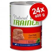 Trainer Natural Dog Trainer Natural Adult Medium/Maxi 24 x 400 g - con Manzo