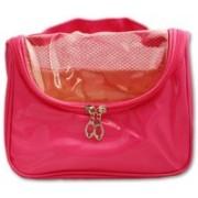 Italish Portable Cosmetic Make Up Toiletries Bag Organizer Travel Toiletry Kit(Red)