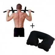 IBS Push Mount Wall Door Iron Chin Hanging Workout Biceps Triceps Gym With Neck Pain Relief Travel Pillow Pull-up Bar