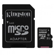 Card Micro SDXC 128 GB, clasa 10 UHS-I R/W 80/10, Kingston