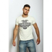 Epatage Мужская футболка с принтом совы бежевого цвета Epatag RT050331m-EP