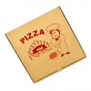 Cutie Pizza Natur Model Bucatarul, 28x3.5x28 cm, 100 Buc/Bax - Ambalaj din Carton Maro