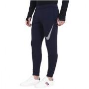 Nike Navy Polyester Lycra Track pant