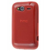 HTC Wildfire S Frosted Colour TPU Gel Case - HTC Soft Cover (Red)