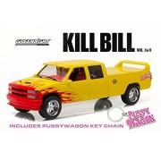 Kill Bill 1997 Custom Crew Cab Pussy Wagon Pick-Up Truck, Yellow - Greenlight 19015-1/18 Scale Diecast Model Toy Car