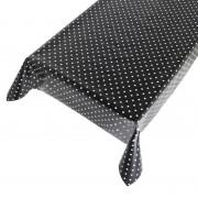 Geen Zwart buiten tafelkleed/tafelzeil polkadot 140 x 170 cm