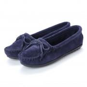 ミネトンカ Minnetonka KILTY Suede Moccasin Shoes (ネイビー) レディース