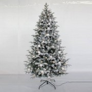 All Round Fun 7ft Pre-Lit Diamond Lake Christmas Tree with 270 Warm White LED Lights