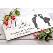 """Placuta decorativa ''Nunta noastra"""", personalizata cu numele si cu data nuntii"""